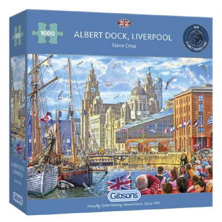 Albert Dock, Liverpool by Steve Crisp 1000 Piece Gibsons Jigsaw
